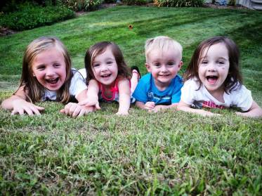 From Left to Right: Elizabeth (7), Sophia (3), Nathan (2) and Hannah (3)